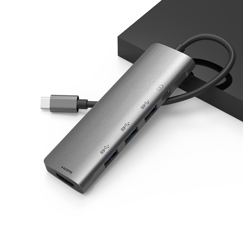 USB Type C 5 in 1 adapter